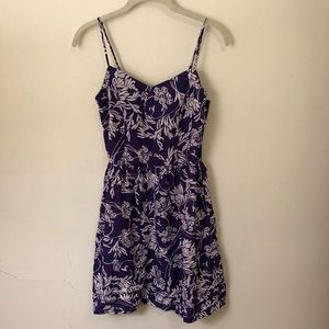Purple and white floral dress